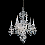 Crystorama 1140-PB-CL-MWP Traditional Crystal 28 Inch Diameter 10 Candle Ceiling Chandelier - Polished Brass