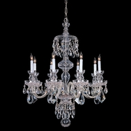 Crystorama 1148-CH-CL-MWP Traditional Crystal Large 8 Candle Polished Chrome Chandelier Light - 28 Inch Diameter