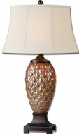 Uttermost 26284 Pianello Oval Bell Shade 33 Inch Tall Bed Lamp