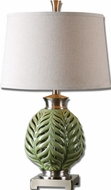 Uttermost 26285 Flowing Fern 26 Inch Tall Lime Green Table Top Lamp