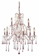 ELK 4013/6+3RS Opulence Rose Crystal Large 25 Inch Diameter 9 Candle Chandelier Light
