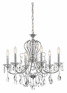 Kichler 43121CH Jules Traditional 25 Inch Diameter 6 Candle Chrome Chandelier Lighting - Small