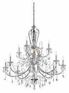 Kichler 43124CH Jules Extra Large 44 Inch Diameter Chrome Finish Traditional 12 Candle Chandelier