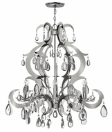 Fredrick Ramond 43358PSS Xanadu Tall 9-light Crystal Chandelier Pendant Light