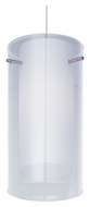 ET2 EP96038-10SN Minx Clear White 7 Inch Tall RapidJack Cylinder Hanging Lamp