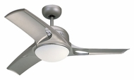 Monte Carlo Fans 3MTR38TMO-L Mach Two Titanium Finish 38 Inch Wide Small Modern Home Ceiling Fan