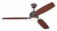 Monte Carlo Fans 3MUR52RBD Muirfield Roman Bronze Finish 3 Blade Contemporary Home Ceiling Fan