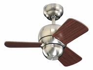 Monte Carlo Fans 3TF24BS Micro 24 Brushed Steel Transitional Mini Ceiling Fan