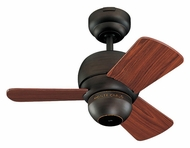 Monte Carlo Fans 3TF24RB Micro 24 Inch Wide 3 Blade Transitional Mini Ceiling Fan - Roman Bronze