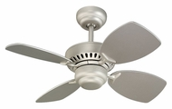 Monte Carlo Fans 4CO28BP Colony II Mini 28 Inch Wide 4 Blade Transitional Brushed Pewter Ceiling Fan