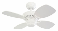 Monte Carlo Fans 4CO28WH Colony II 28 Inch Wide White 4 Blade Mini Transitional Home Ceiling Fan