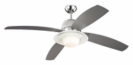 Monte Carlo Fans for Less 4ICR52PND Icon Contemporary 4 Blade 52 Inch Wide Polished Nickel Fan Light Fixture