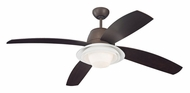 Monte Carlo Fans 4ICR52RBD Icon Roman Bronze Finish Modern 52 Inch Wide 4 Blade Indoor Ceiling Fan