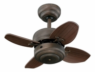 Monte Carlo Fans 4MC20RB Mini 20 Roman Bronze 4 Blade Ceiling Fan