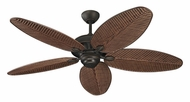 Monte Carlo Fans 5CU52RB Cruise Outdoor Roman Bronze Palm Blade Ceiling Fan