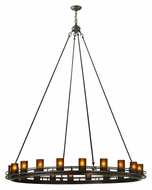 Meyda Tiffany 133495 Loxley Timeless Bronze 20 Lamp Dining Chandelier - 60 Inch Diameter