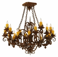 Meyda Tiffany 130490 Kimberly Traditional 20 Candle 37 Inch Diameter Chandelier Light