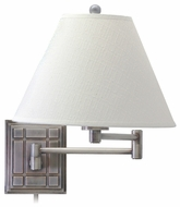 House of Troy WS750AS House of Troy Waffle Wall Swing Arm Lamp in Antique Silver