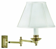 House of Troy LL660PB LL660 Decorative Swing Arm Wall Lamp in Polished Brass