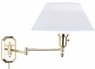 House of Troy WS705 WS Decorative Swing Arm Wall Lamp in Polished Brass