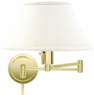House of Troy WS1461 WS14 Decorative Swing Arm Wall Lamp in Polished Brass