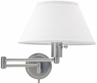 House of Troy WS1452 WS14 Decorative Swing Arm Wall Lamp in Satin Nickel