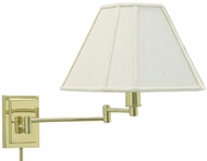 House of Troy WS1661 WS16 Decorative Swing Arm Wall Lamp in Polished Brass