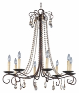 Maxim 22197UR Adriana 32 Inch Diameter 8 Candle Medium Hanging Chandelier - Urban Rustic