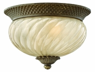 Hinkley 2128-PZ-EST Plantation 8 inch outdoor fluorescent 2-lite flush mount in Pearl Bronze