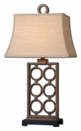 Uttermost 27453 Dardenne Transitional Hand Forged metal 31 Inch Tall Lighting Table Lamp