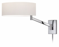 Sonneman 7080.01 Perch Modern Polished Chrome 13 Inch Tall Bedside Lamp
