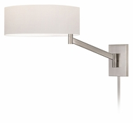 Sonneman 7080.13 Perch 13 Inch Tall Swing Arm Contemporary Satin Nickel Headboard Lamp