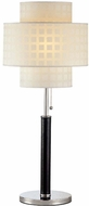 Lite Source LS20290 Olina Chrome Leather Table Lamp