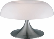 Lite Source LS2901-PS-WHT(Clearance) Pliant Table Lamp in Polished Steel & White