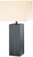 Lite Source LS2937-DBRN-LTR Leatherman Collection Dark Brown Table Lamp
