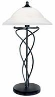 Lite Source LS3640-BLK Majesty Table Lamp with Alabaster Glass Shade - Black