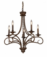 ELK 15042/5 Gloucester Traditional Small 5 Candle 24 Inch Diameter Antique Bronze Chandelier