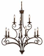 ELK 15043/6+3 Gloucester 9 Candle 35 Inch Diameter Medium Chandelier Lighting