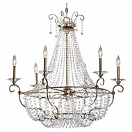 Feiss F2708-6-BUS Dutchess Burnished Silver 30 Inch Diameter Candle Chandelier Lighting