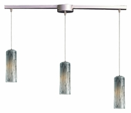 ELK 551-3L-MD Maple Satin Nickel 3 Lamp Linear Bar Drop Ceiling Light Fixture - 36 Inches Wide
