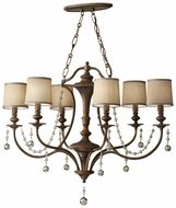 Feiss for Less F2726-6-FG Clarissa Traditional 6 Light Gold Chandelier Lamp