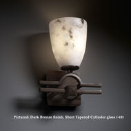 Justice Design FAL-8501 Argyle 10 Inch Tall Lumenaria Faux-Alabaster Light Sconce With Finish Options