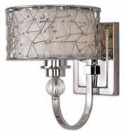 Uttermost 22484 Brandon Nickel Plated 10 Inch Tall Transitional Lighting Wall Sconce