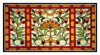 Meyda Tiffany 109883 Picadilly 36 Inch Wide Wall Décor Stained Glass Window