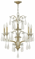 Fredrick Ramond 40315SLF Francesca Small Crystal Tear Drop Classic Candle Chandelier