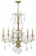 Fredrick Ramond 40316SLF Francesca Medium 6-Light Traditional Candelabra Chandelier Lighting Fixture