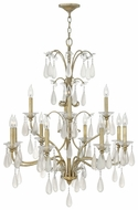 Fredrick Ramond 40318SLF Francesca Vintage Large 32 Inch Diameter Crystal Chandelier Lighting