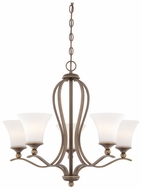 Quoizel SPH5005PN Sophia 26.5 Inch Diameter Bronze Chandelier Light