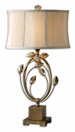 Uttermost 26337-1 Alenya Burnished Gold Traditional 29 Inch Tall Bed Lamp