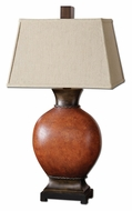 Uttermost 26517 Suri Transitional 35 Inch Tall Ceramic Table Lamp - Burnished Dark Red